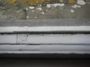 damaged window frame